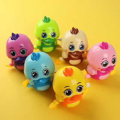 Cute Duck Shape Clockwork Toy Wind Up Early Educational Toy Gift Color Random