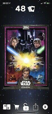 Topps Star Wars Card Trader Illustrated 2019 Wave 2 Purple