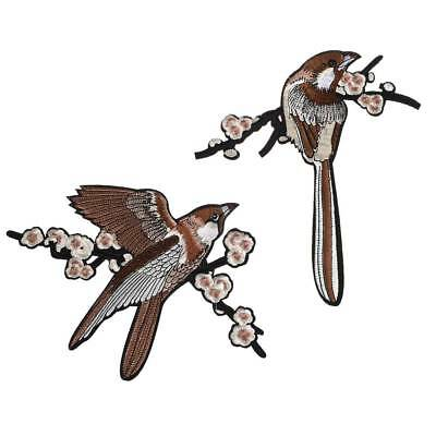 Bird Embroidered Patches Iron on Sewing Parches for clothes applique embroidery