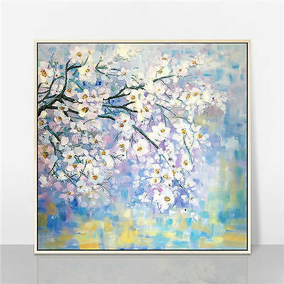 """100% Hand-painted Abstract Knife Painting on Canvas """"FLOWER"""" No Framed 20x20"""""""