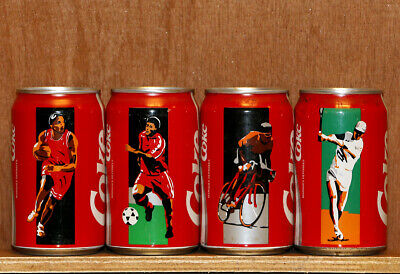 1994 Coca Cola 4 cans set from France, Sport