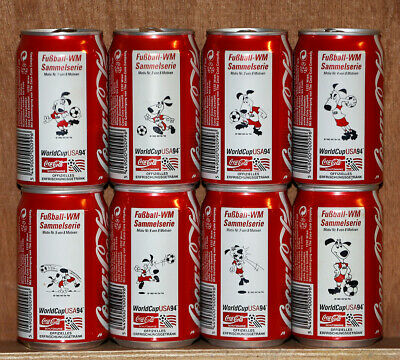 1994 Coca Cola 8 cans set from Austria, World Cup USA94