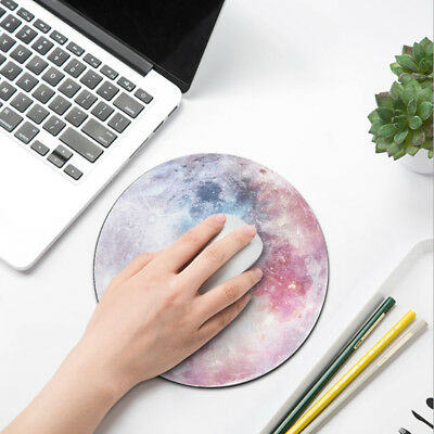 Home Office Soft Pattern Small Round Non-Skid Rubber Smooth Mouse Pad Mice Mat