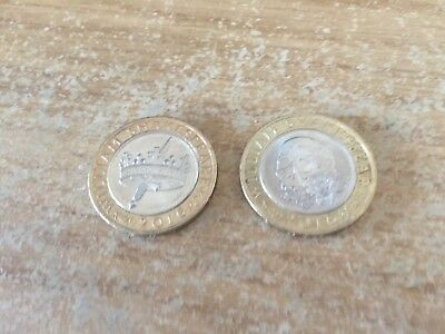 Shakespeare skull/tragedies & hollow crown/dagger 2016 £2 coins, rare, coin hunt