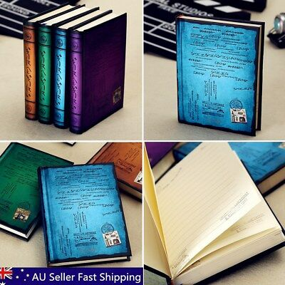 Classic Stamp Writing Cover Blank Pages Travel Journal Diary Hardcover Notebook