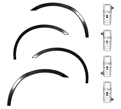 MAZDA 3 Wing Wheel Arch Moulding Trims New Set 4 pcs L&R Black Matt SaLe '03-09