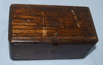 Handyman Special Singer 1889 Patent Sewing Accessories Oak Folding Puzzle Box