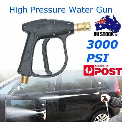 3000PSI High Pressure Spray Gun Car Washer Water Lance Brass Nozzle Wand Cleaner