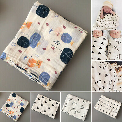 Baby Infant Cotton Bath Swaddle Muslin Soft Towel Babies Blanket Newborn Bags