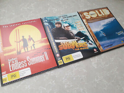 DVD Endless Summer 2 & Storm Surfers The Movie & Billabong Solid Surf Surfing II