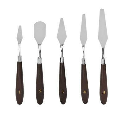 5Pcs Artist Stainless Steel Palette Knives Spatulas Painting Metal Pallet Knife