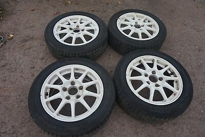 "Honda Acura Integra Type R OEM Enkei 15"" 5x114.3 Wheels and Good Tyres"