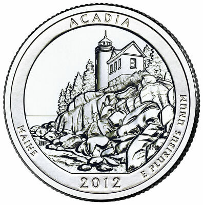 2012 P Acadia National Park Quarter - Brilliant Uncirculated - ATB