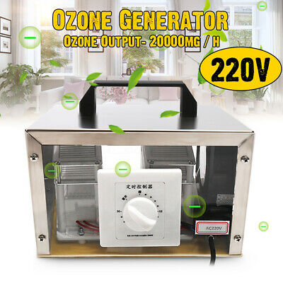220V 20g Ozone Generator Disinfection Machine Steel Cover Home Room Air Purifier