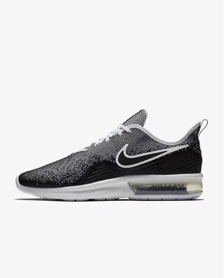 329f5585b3f Nike Air Max Sequent 4 IV Black White Men Running Shoes Sneakers AO4485-001