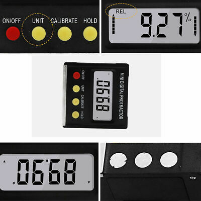 Upgrade Mini Digital Inclinometer Level Box Protractor Bevel Gauge Easy To Carry