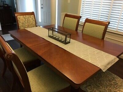 BASSETT FURNITURE CHERRY Dining Room Set in excellent ...
