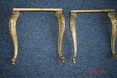 Old French Brass Table Legs  Beautiful