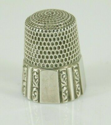 Vintage / Antique Simons Brothers Sterling Silver Thimble Size 10