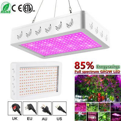 600W/1000W/2000W LED Grow Light Full Spectrum Veg Flower Indoor Plant Lamp#Panel