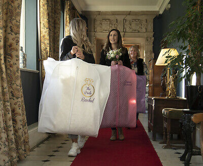 Hoesh UK Personalised Breathable Wedding Bridal Dress Gown Cover Garment Bags