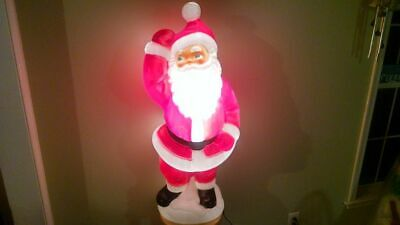 Blow Mold Christmas Yard Decorations.Dancing Santa 41 Lighted Blow Mold Christmas Yard Decoration General Foam