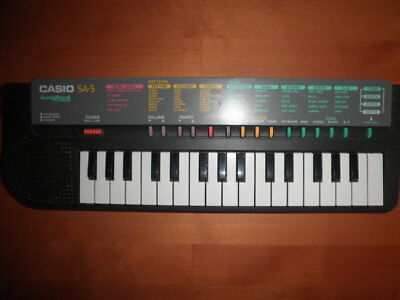 Organo Casio Sa-5 Vintage Electronic Instrument Keyboard Songbank