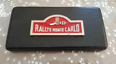 PLAQUE RALLYE MONTE CARLO Suport BOIS CAR BADGE RALLY WOOD RARE