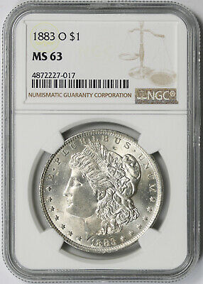 1883-O Morgan Dollar Silver $1 MS 63 NGC