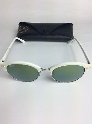f6f246edd1 RAY-BAN CLUBROUND SUNGLASSES Rb4246 988 2X White   Silver green ...