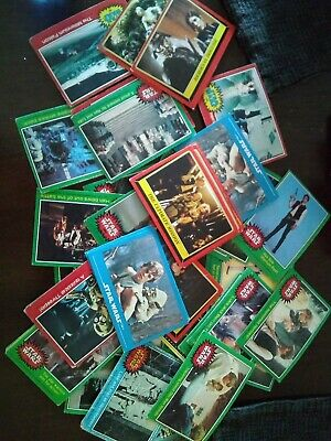 1977 vintage Star Wars Topps Trading Mixed Card