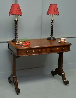 Early Victorian Mahogany Writing Table / Desk