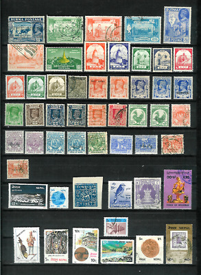 Burma, Nepal, Myanmar, & Tibet Mixture of 52 All Diff. Mint & Used, with Older
