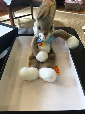 New NWT Vintage Steiff Brown Tan Bunny Rabbit Lulac 6282/25 Collectible Easter