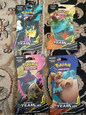 Pokemon Sun & Moon Team Up lot of 4 Booster Packs (10 cards in each pack)