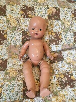 """Old Vintage Antique 16"""" Baby Doll Fully Jointed Bisque Composition 1930s/40s"""