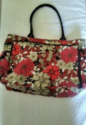 Nordstrom Brand Diaper Bag Daisy Black Red Gray Cream with changing pad
