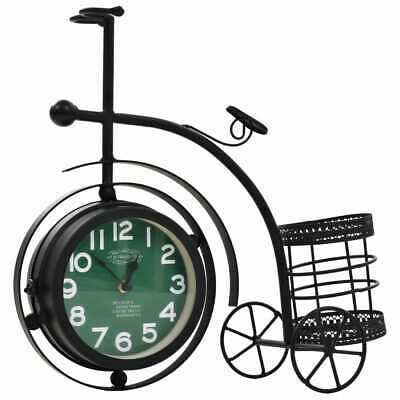 vidaXL Double-Sided Wall Clock Tricycle Vintage Indoor Home Office Timepiece~