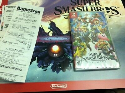 Factory Sealed Super Smash Bros Ultimate - Nintendo Switch Game - FREE Shipping