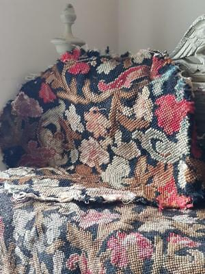 Antique French Louis XIV Tapestry Fauteuil / Chair Seat & Back Panels to rework