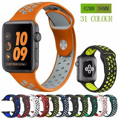 Silicone strap band for Nike apple watch series 4/3/2/1 42mm 38mm rubber wrist b