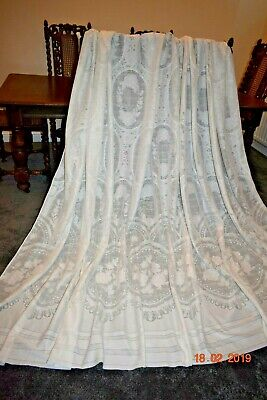 OLD FRENCH MASSIVE LACE  DOOR CURTAIN 128 wide ins 88 ins long