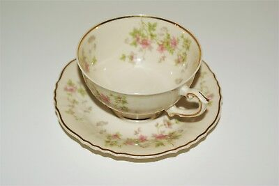 Vintage Syracuse China, Federal Shape, Stansbury Pattern - 4oz Cup & Saucer