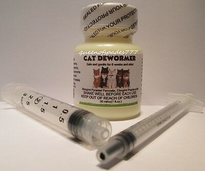2 PK-OTC Cat Kitten Wormer-TREATS ALL WORMS N 1 DOSE!Broad Spectrum Pet Dewormer