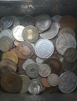 500g Job Lot Of Old Coins with some Silver coins