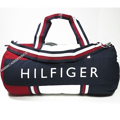 Tommy Hilfiger New Large Duffle Bag gym Bag Nwt Blue Red White Very Nice 2740e55b89