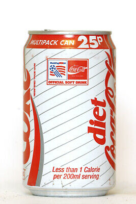 1994 Diet Coke / Coca Cola can from the UK, World Cup USA94 / Multipack Can 25p