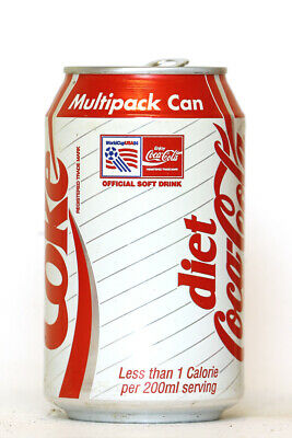 1994 Diet Coke / Coca Cola can from the UK, World Cup USA94 / Multipack Can