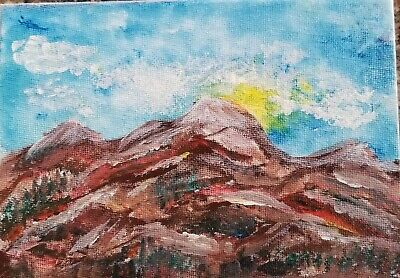 Colorado Original Painting, Acrylic on Stretched Canvas, Signed