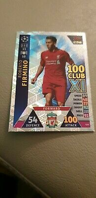 MATCH ATTAX CHAMPIONS LEAGUE 2018/19 100 CLUB Firmino #439